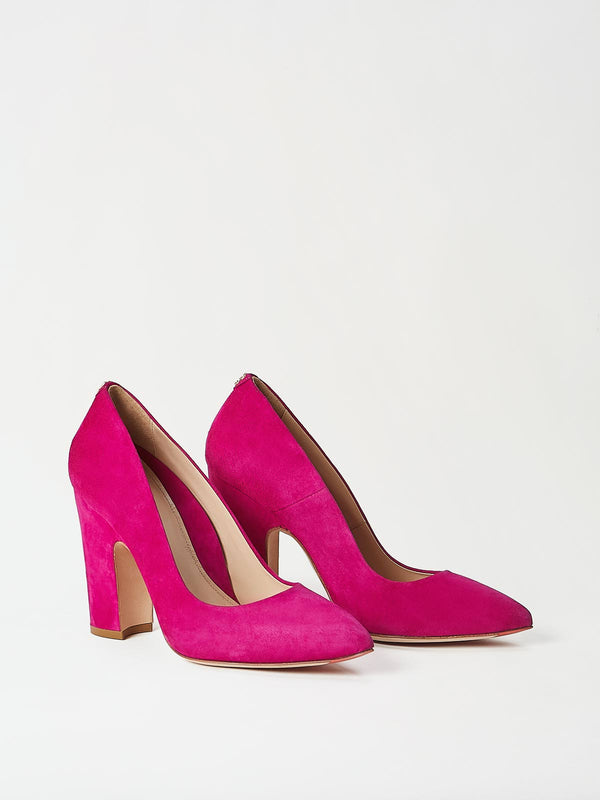 A Pair of Mavette Marino Pump Pink Front-Side View