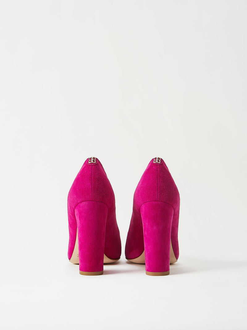 A Pair of Mavette Marino Pump Pink Back View
