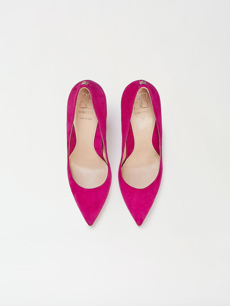 A Pair of Mavette Marino Pump Pink Top View
