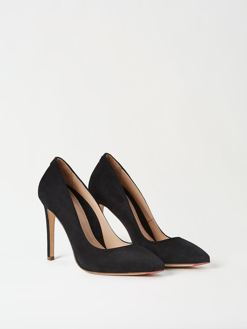 A Pair of Mavette Milano Pumps Black Side-Front View