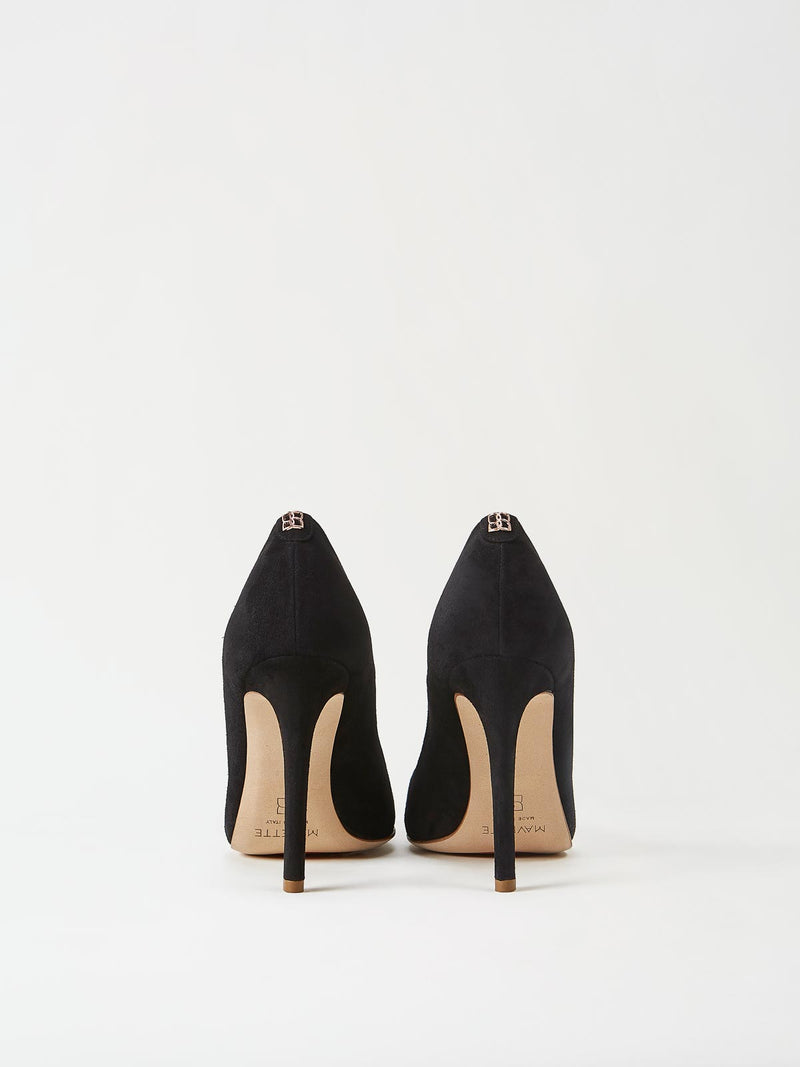 A Pair of Mavette Milano Pumps Black Back View