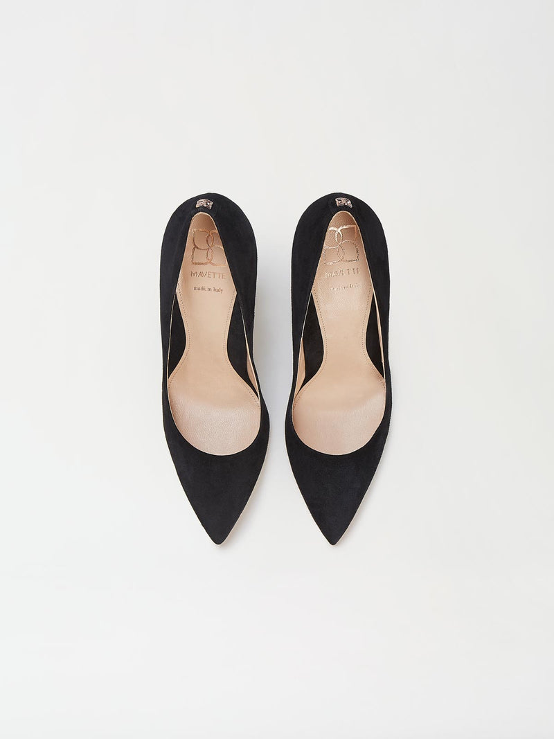 A Pair of Mavette Milano Pumps Black Top View