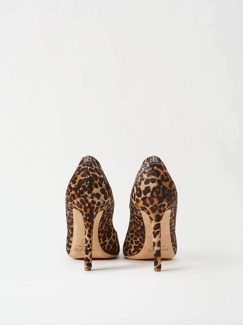 A Pair of Mavette Milano Pumps Leopard Back View