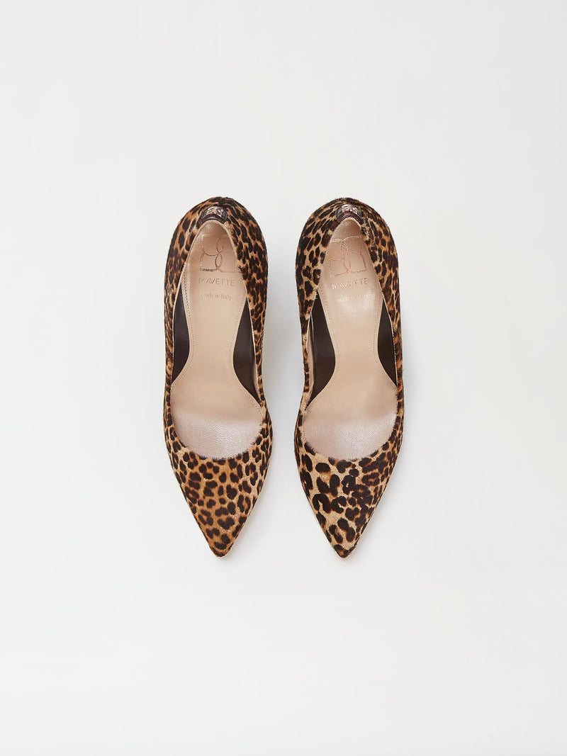 A Pair of Mavette Milano Pumps Leopard Top View