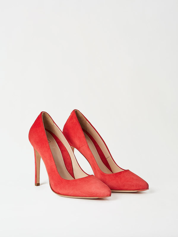 A Pair of Mavette Milano Pumps Red Side-Front View