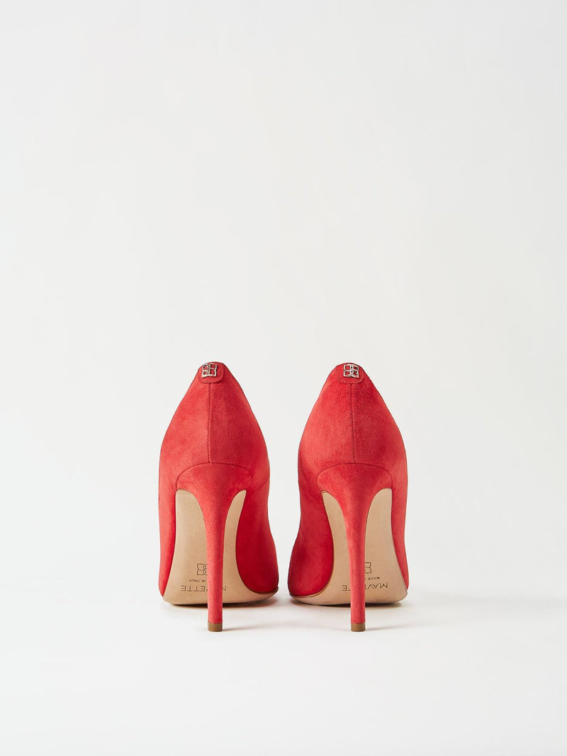 A Pair of Mavette Milano Pumps Red Back View