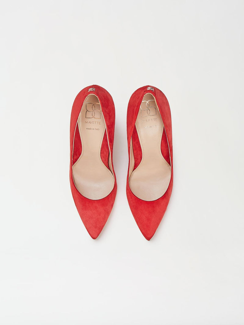 A Pair of Mavette Milano Pumps Red Top View