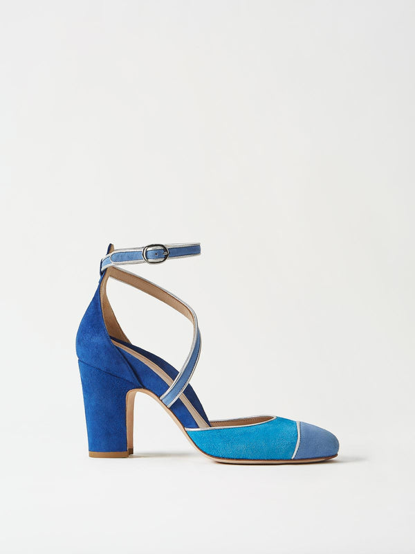 Mavette Nola D'Orsay Pump Blue Side View