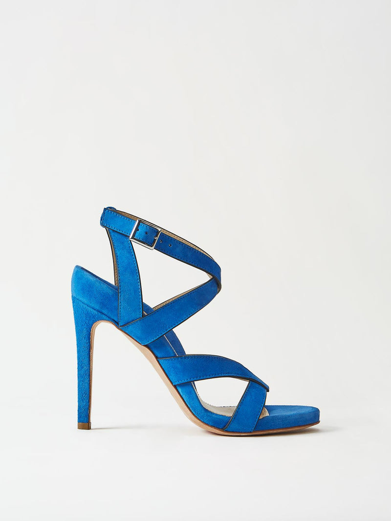 Mavette Positano Sandals Blue Side View