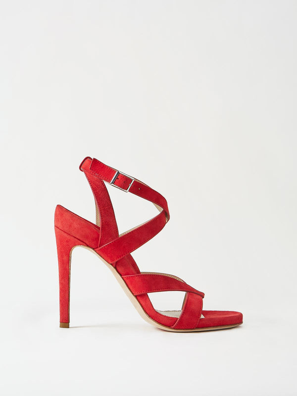 Mavette Positano Sandals Red Side View