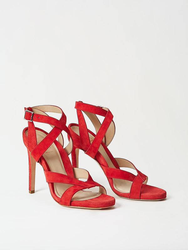 A Pair of Mavette Positano Sandals Red Side-Front View