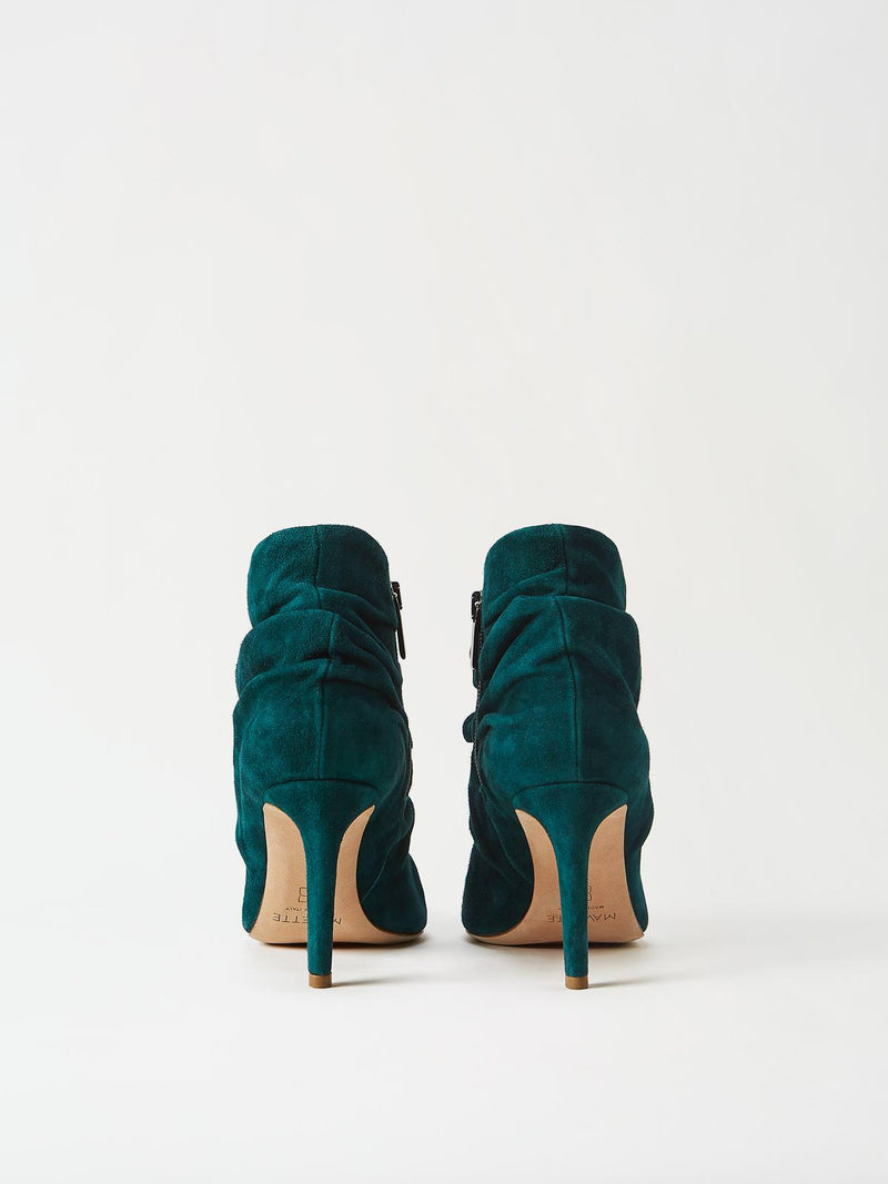 A Pair of Mavette Ravenna Booties Green Back View