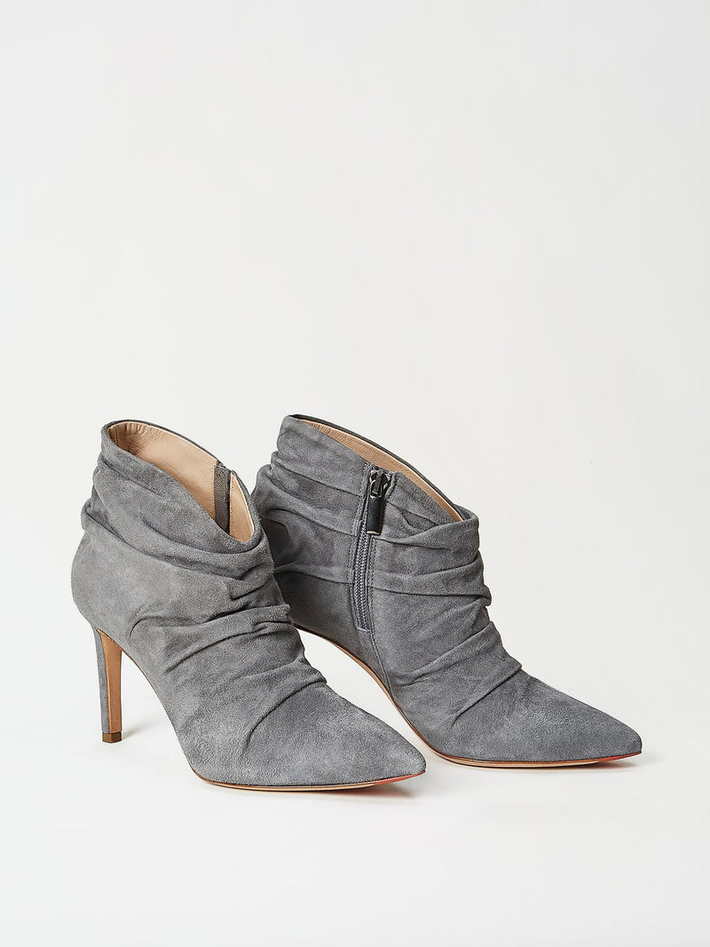 A Pair of Mavette Ravenna Booties Grey Side-Front View
