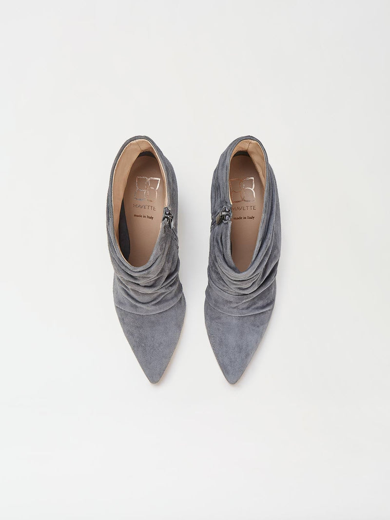 A Pair of Mavette Ravenna Booties Grey Top View