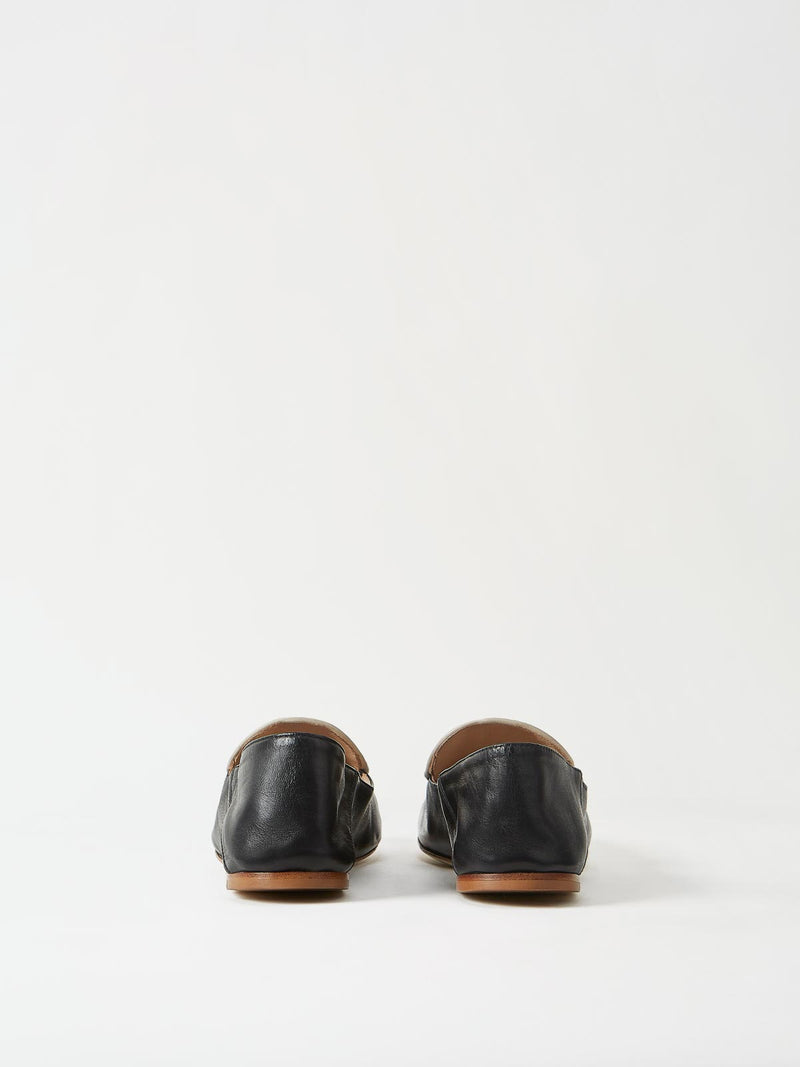 A Pair of Mavette Sara Loafers Black Back View