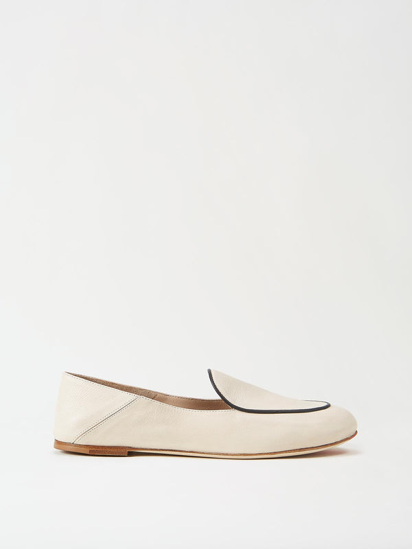 Mavette Sara Loafer Ivory Side View