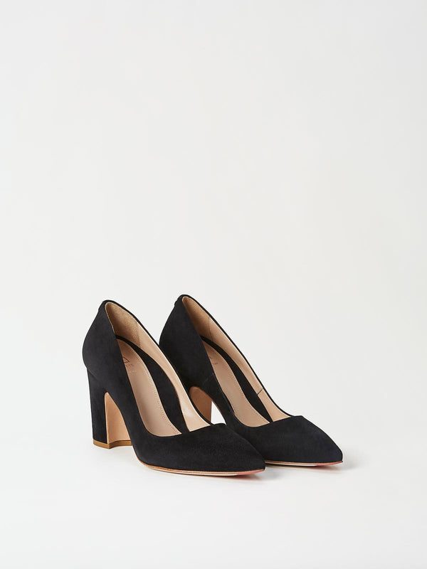 A Pair of Mavette Sarnico Pumps Black Side-Front View