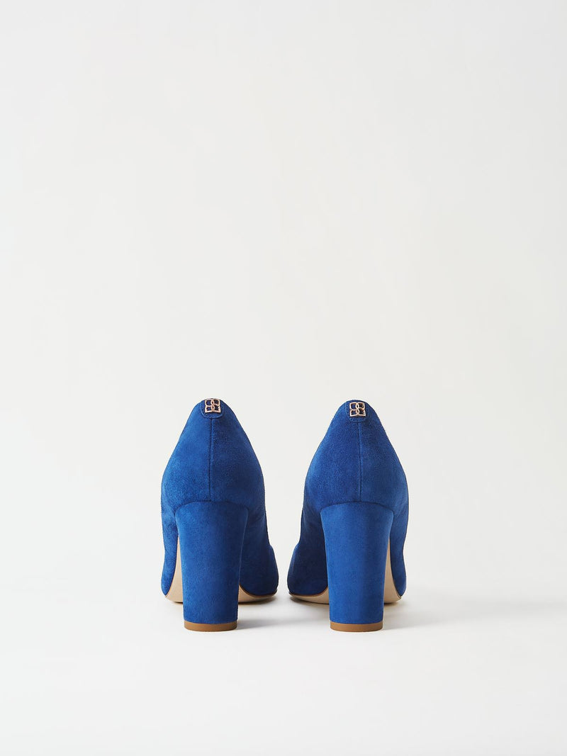 A Pair of Mavette Sarnico Pumps Blue Back View
