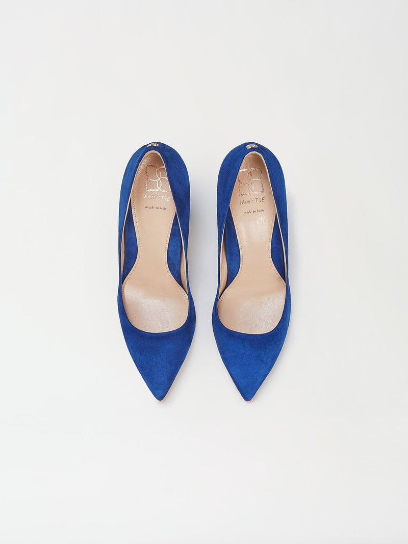 A Pair of Mavette Sarnico Pumps Blue Top View