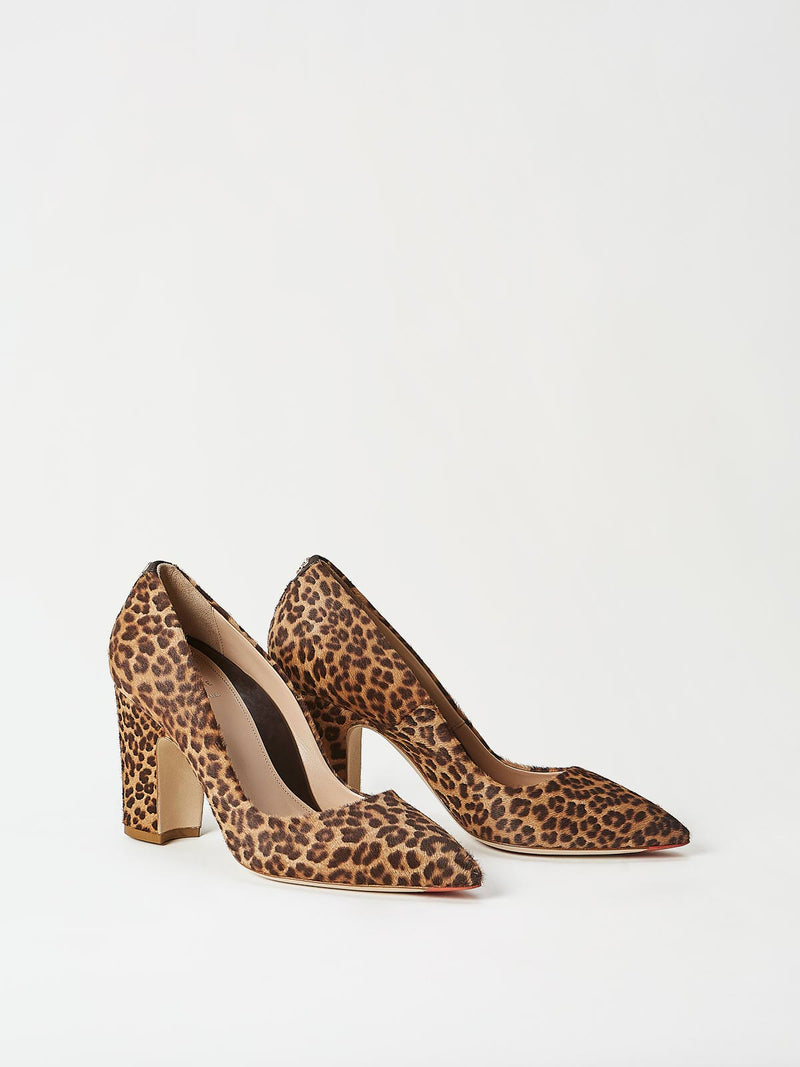 A Pair of Mavette Sarnico Pumps Leopard Side-Front View