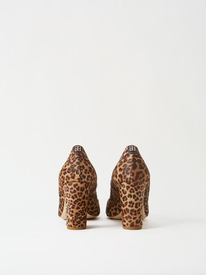 A Pair of Mavette Sarnico Pumps Leopard Back View