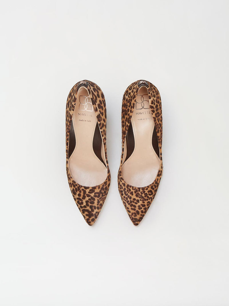 A Pair of Mavette Sarnico Pumps Leopard Top View