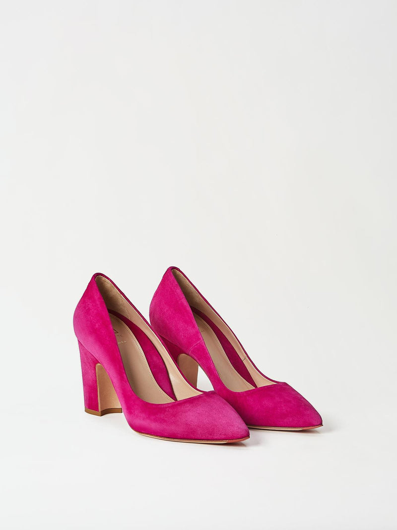 A Pair of Mavette Sarnico Pumps Pink Side-Front View