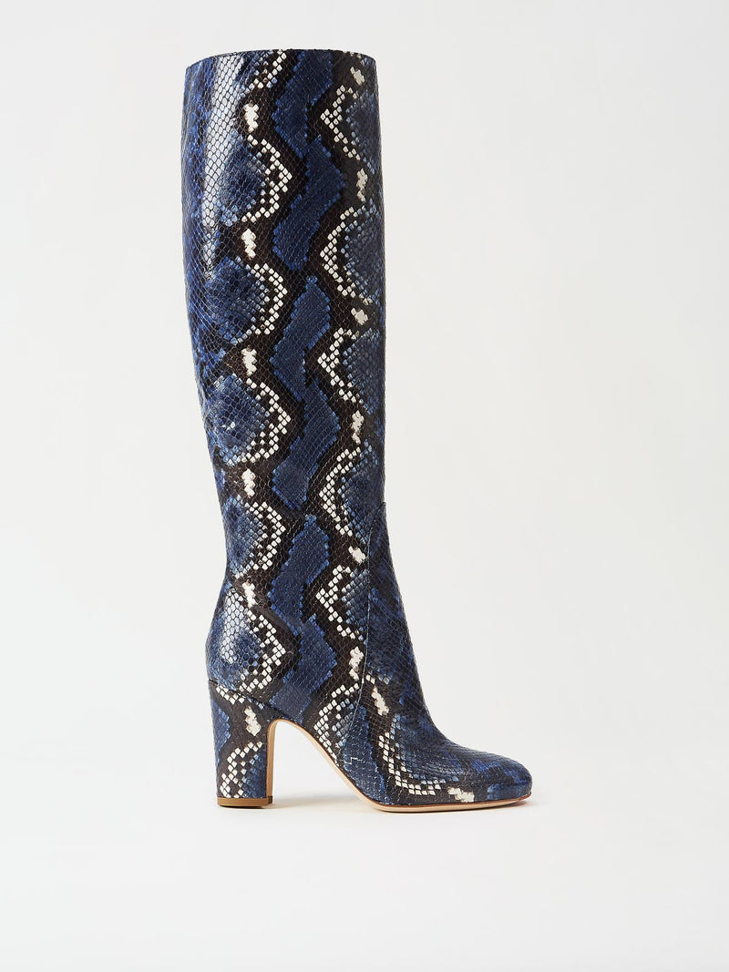 Mavette Savona Boots Blue Snake Side View