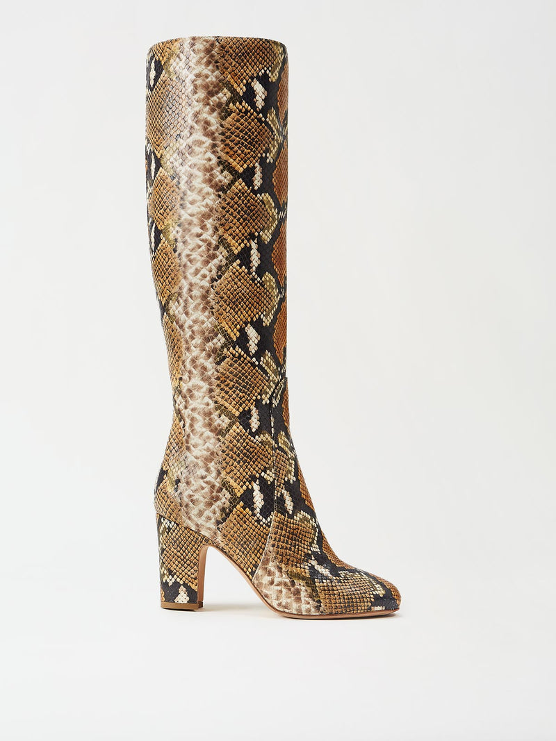 Mavette Savona Boots Tan Snake Side View