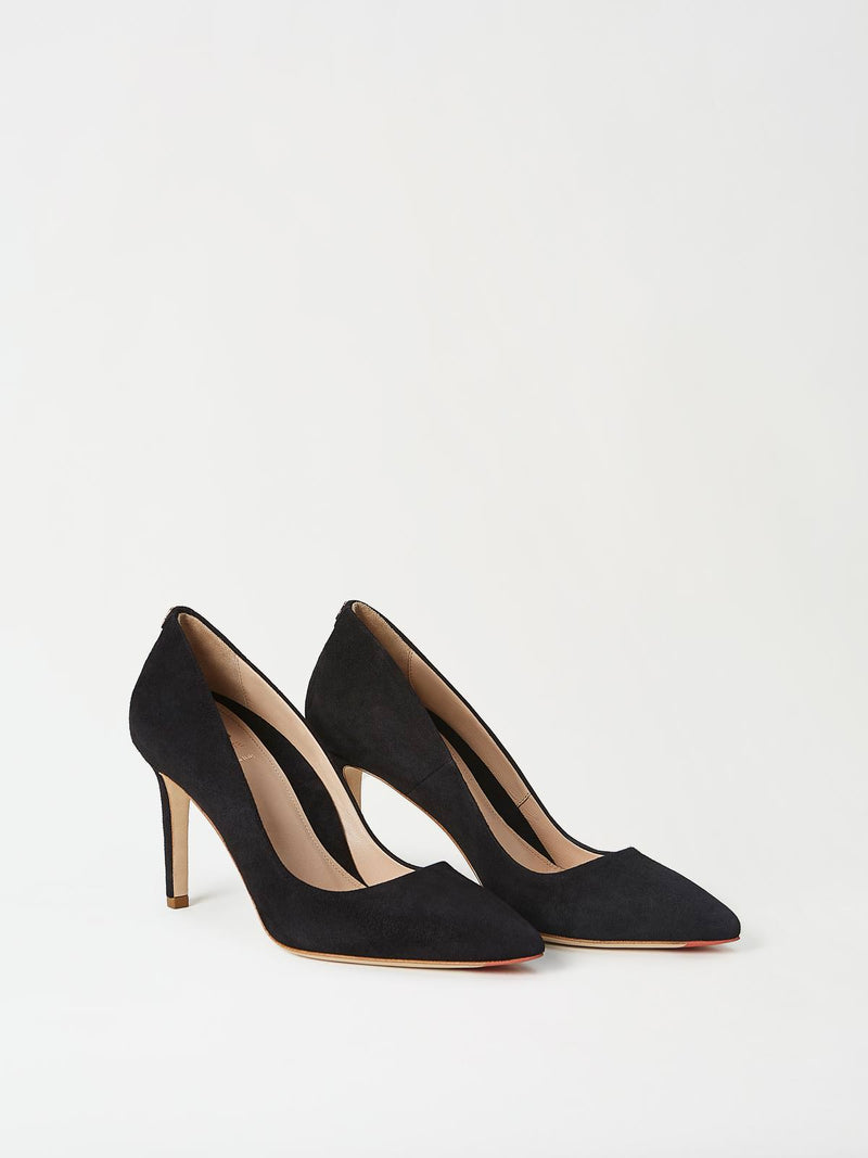A Pair of Mavette Siena Pump Black Side-Front View