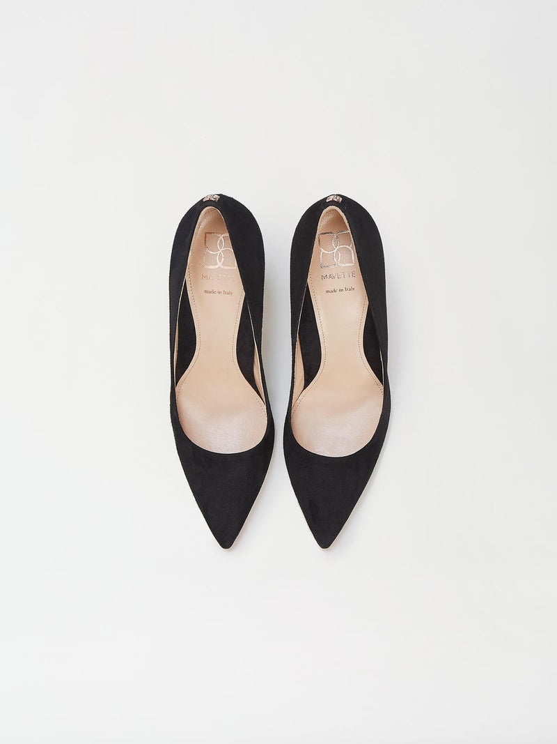 A Pair of Mavette Siena Pump Black Top View
