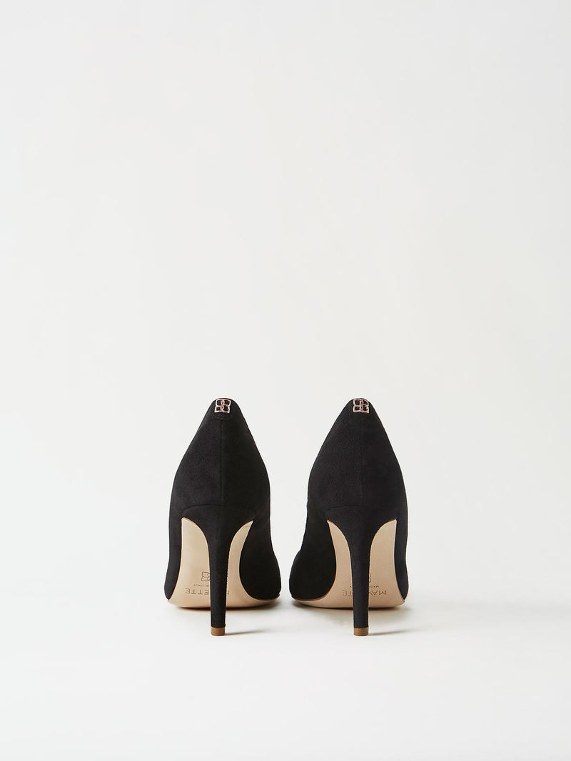 A Pair of Mavette Siena Pump Black Back View