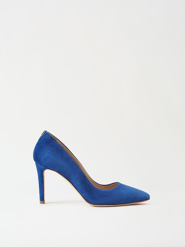 Mavette Siena Pump Blue Side View