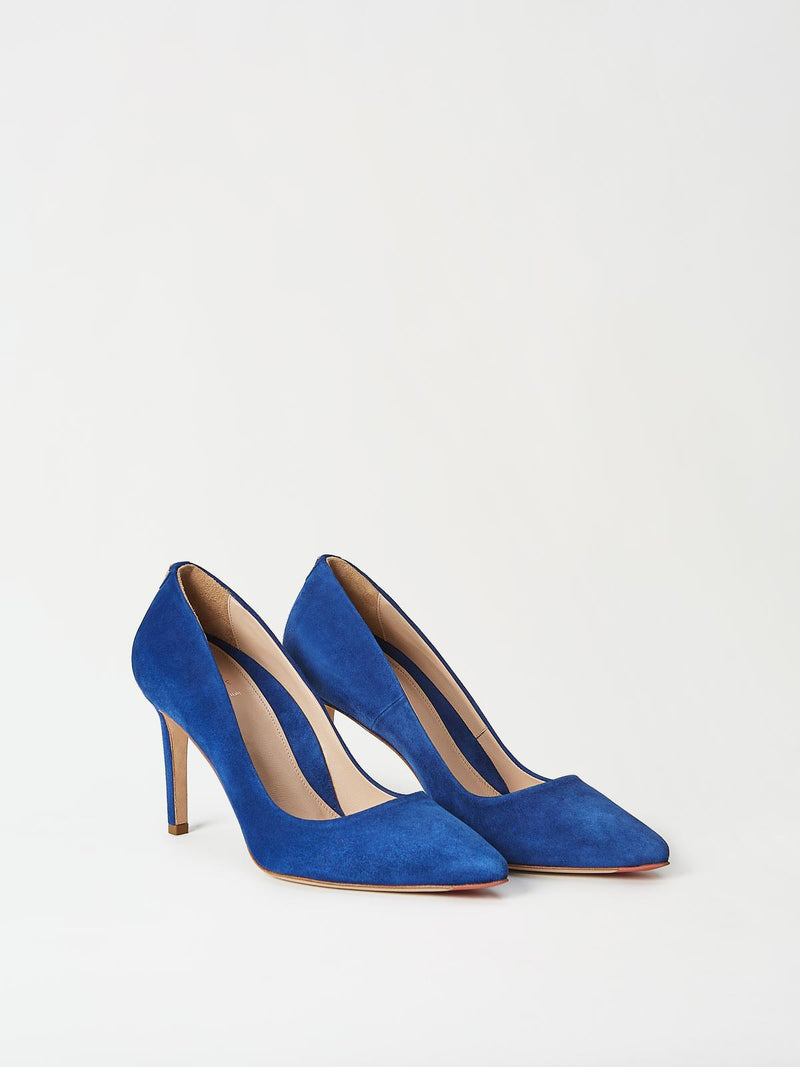 A Pair of Mavette Siena Pump Blue Side-Front View