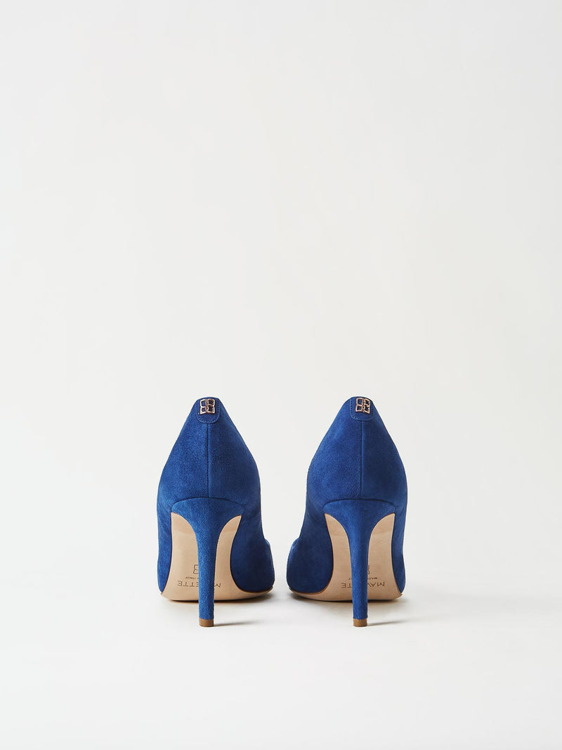 A Pair of Mavette Siena Pump Blue Back View