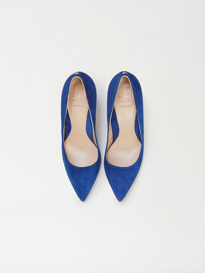 A Pair of Mavette Siena Pump Blue Top View