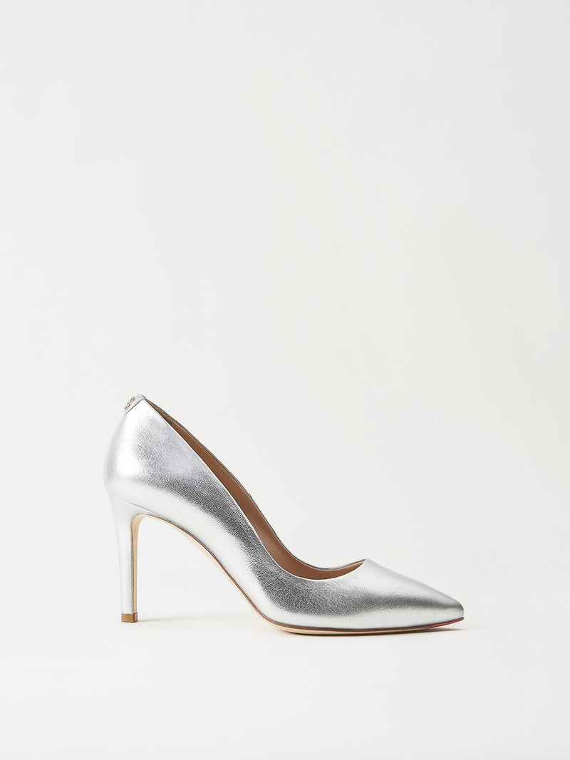 Mavette Siena Pump Silver Side View