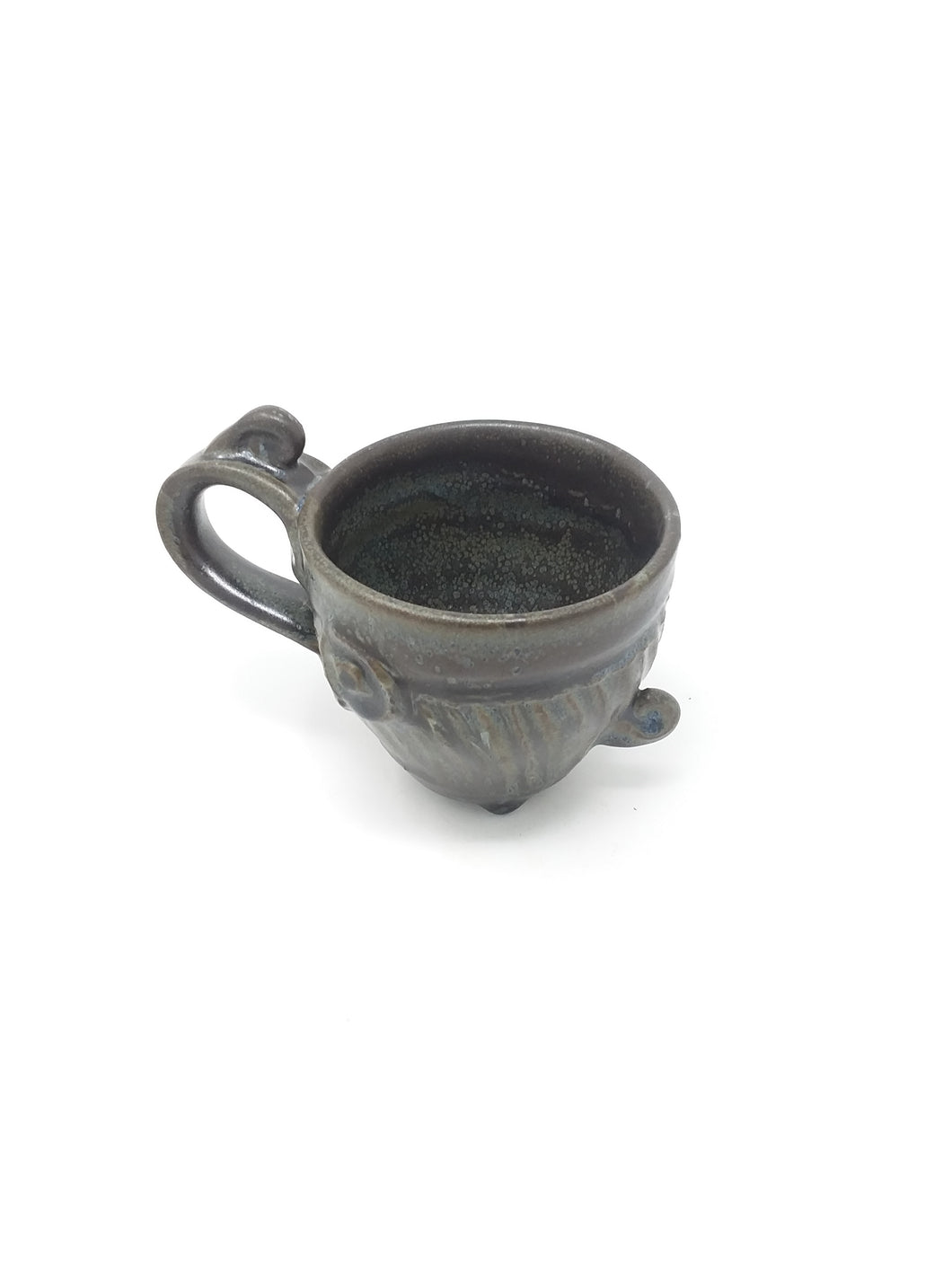 Wheel Thrown Black Speckled Ceramic Mug - AsIsStuff