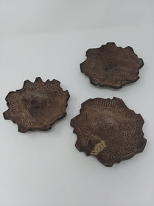Vintage Wheel Thrown Cut Out Saucers - AsIsStuff