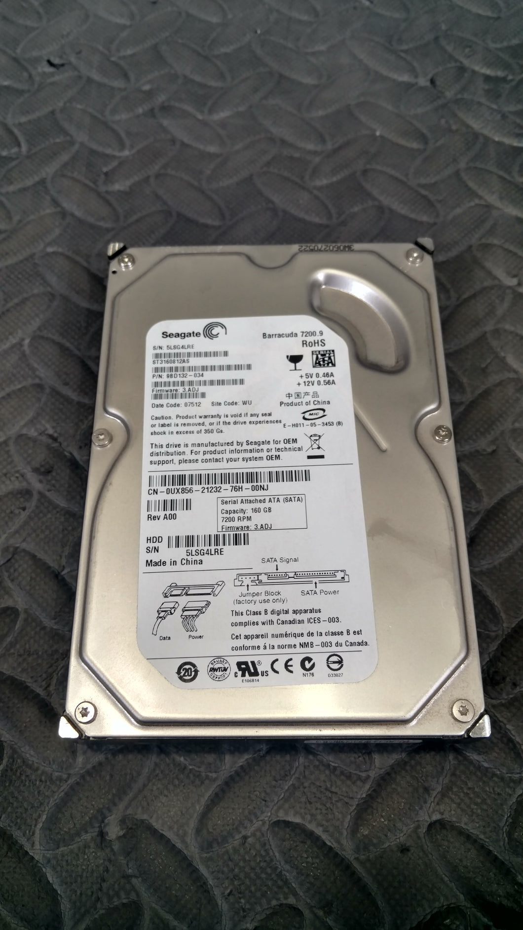 Seagate ST3160812AS 3.5