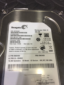 "Seagate ST3250318AS 3.5"" SATA 7200RPM 8MB Cache 250GB HDD Caution Status! - AsIsStuff"