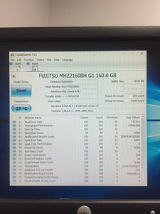 Fujitsu MHZ2160BH G1 5400RPM 8MB Cache 160GB HDD Tested Good! - AsIsStuff