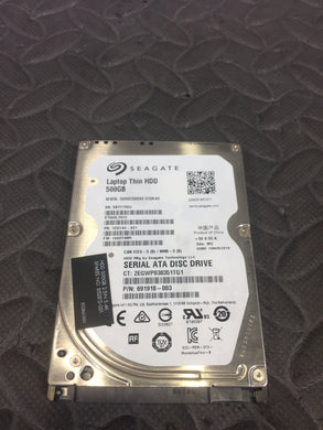 "Seagate ST500LT012 2.5"" SATA 5400RPM 16MB Cache 500GB HDD Tested Good! - AsIsStuff"