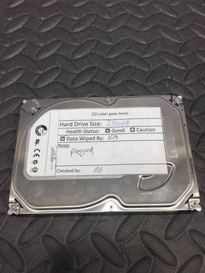 "Seagate Barracuda ST3250318AS 3.5"" 7200RPM 8MB Cache 250GB SATA Hard Drive - AsIsStuff"