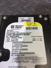 "Westen Digital WD1600JD 3.5"" SATA 7200RPM 8MB Cache 160GB HDD Caution Status - AsIsStuff"