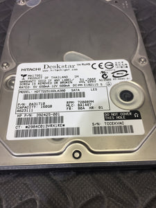 "Hitachi Deskstar T7K250 3.5"" SATA 7200RPM 8MB Cache 160GB HDD Tested Good! - AsIsStuff"