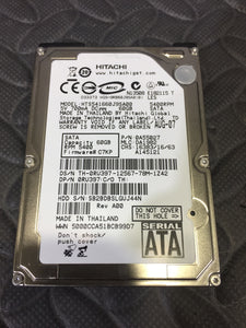 "Hitachi HTS541660J9SA00 2.5"" SATA 5400RPM 8MB Cache 60GB HDD Caution Status - AsIsStuff"