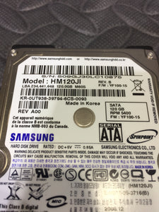 "Samsung SpinPoint HM120JI 2.5"" SATA 5400RPM 8MB Cache 120GB HDD Caution Status! - AsIsStuff"