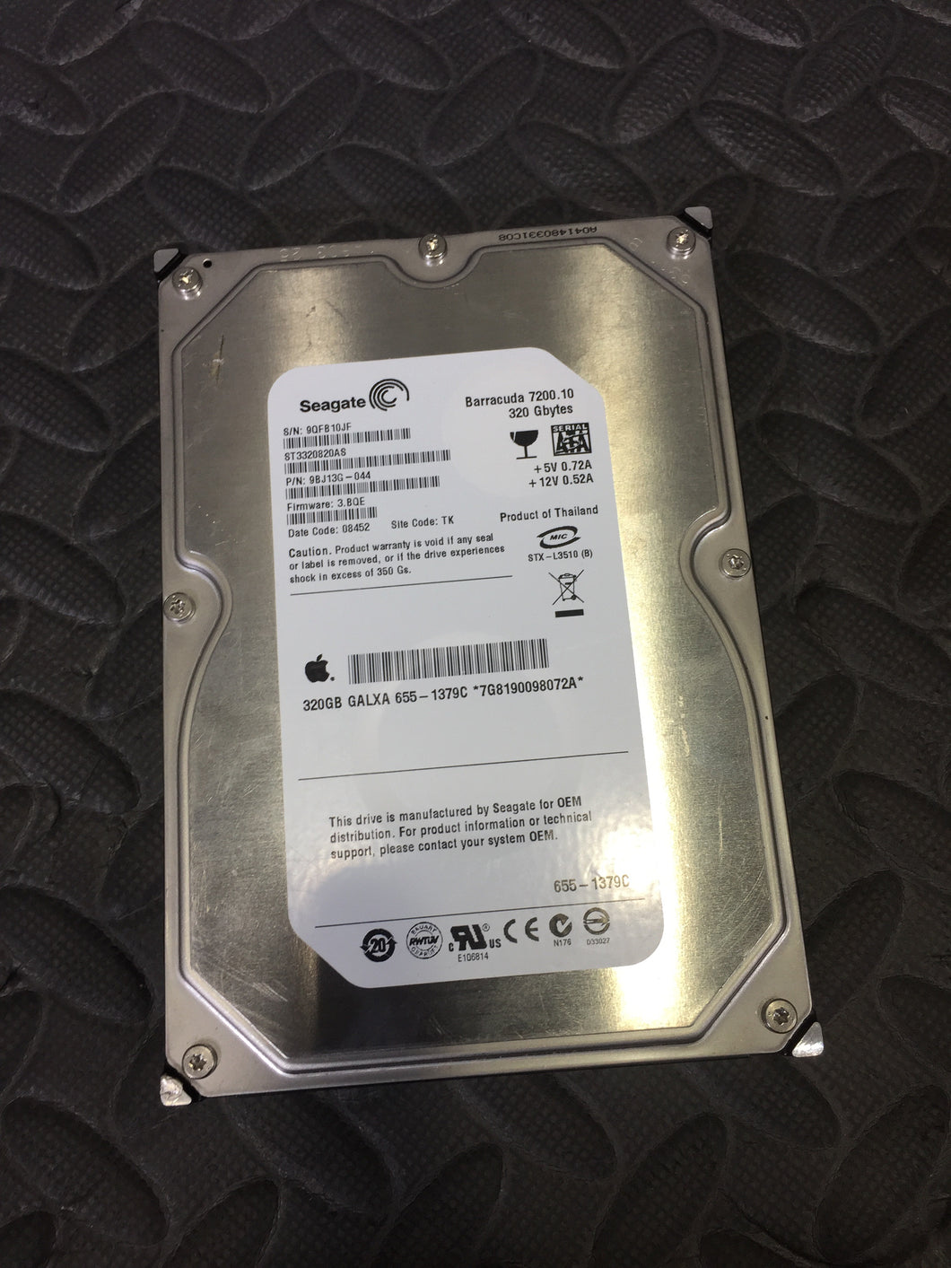 "Seagate ST3320820AS 3.5"" SATA 7200RPM 8MB Cache 320GB HDD Caution Status! - AsIsStuff"
