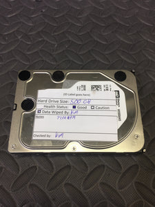 "Western Digital WD5000AAKS 3.5"" SATA 7200RPM 16MB Cache 500GB HDD Tested Good! - AsIsStuff"